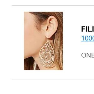 Forever21 Filigree Teardrop Earrings